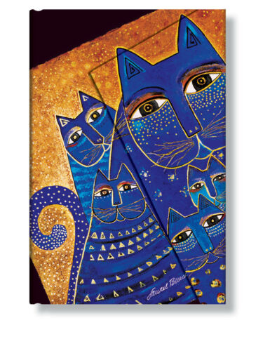 "Paperblanks ADDRESS BOOK ""Mediterranean Cats"" Mini 3¾ x 5½"" Laurel Burch"
