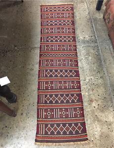 Vintage 100% wool Tribal Baluch Hall Runner Rug Carpet Persain Glebe Inner Sydney Preview