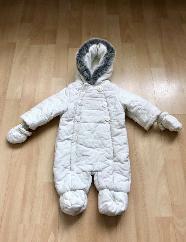 Baby snowsuit -white
