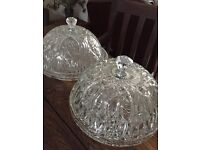 Job Lot of vintage glass bowls, cake stands and serving dishes