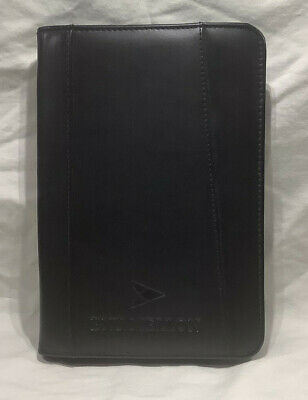 Bny Mellon Logo Leather Zippered Junior Portfolio By Stong Leather
