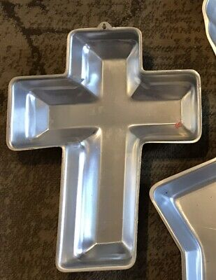 Wilton Easter Religeous Cross Cake Pan Mold w/o Insert.  - Cross Cake Pan