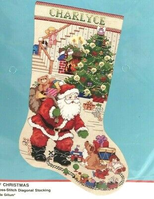 THE BEST OF CHRISTMAS Bucilla Cross Stitch Stocking Kit 82988 NEW Santa Toys