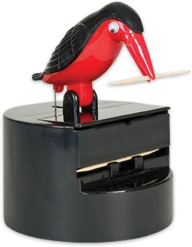 Archie Mcphee Toothpick Dispenser (Bird) Color: Red / Black NEW