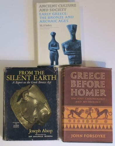 THREE scholarly Hardback Books on Ancient Greece,Bronze & Archaic Ages,maps,ilus
