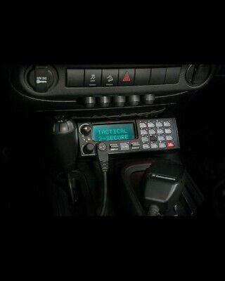 Harris Macom Jaguar J725m Mobile 800mhz Uhf Police Radio Scanner Cables Speaker