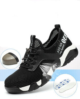 Comfortable Steel Toe Shoes - Womens/Mens Steel Toe Cap Breathable Lightweight Comfortable Work Safety Shoes