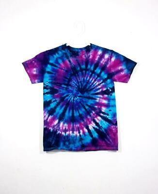Tie Dye T Shirt Spiral Handmade Tye Die Cotton Adult S M L XL 2XL 3XL 4XL 5XL Adult Tye Dye T-shirt