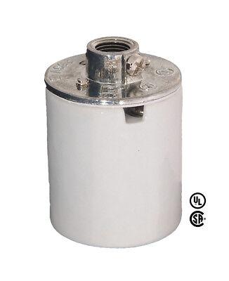 (Medium Base PORCELAIN  ~ Lamp Holder Light Socket w/ 1/8 IP Cap ~ 660W/250V)