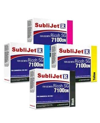 Sawgrass Sublijet-r Sublimation Ink Set Cmyk For Ricoh Sg7100dn Printer