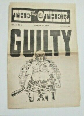 EAST VILLAGE OTHER NYC UNDERGROUND NEWSPAPER  MAY1969 / COMIX/ XCLNT CONDITION!
