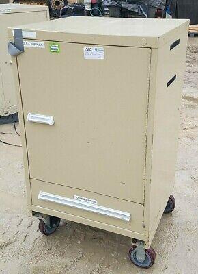 Stanley Vidmar H.d. Portable Cabinet 2-shelves 1-drawer Hd Castors 30 X44 X28