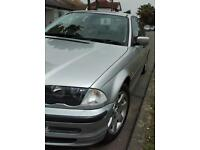 BMW 318 in silver with long MOT