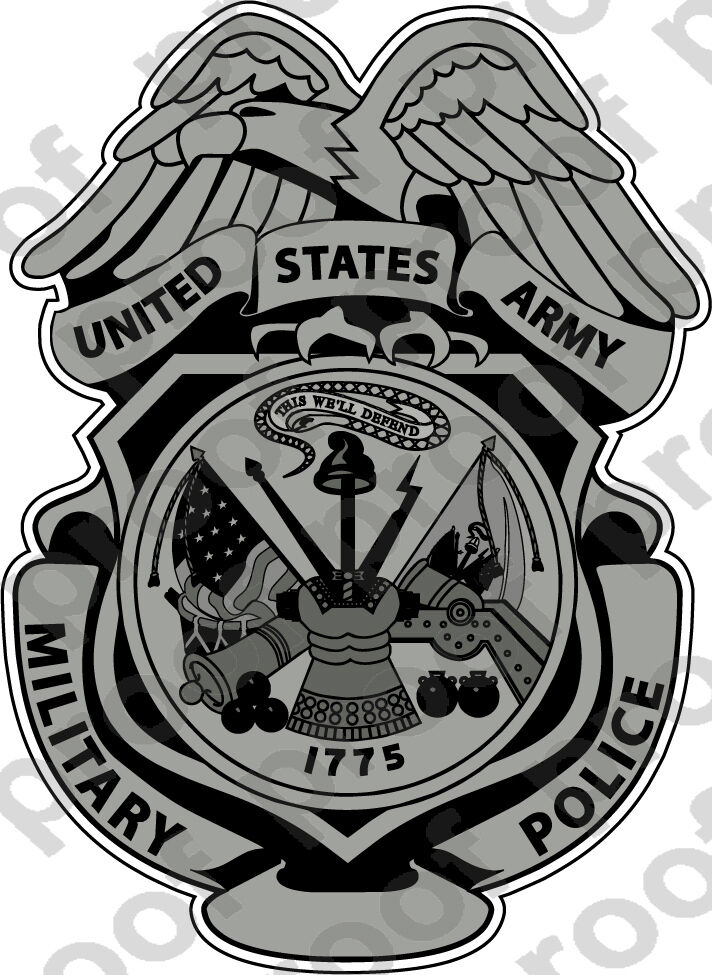 Home Decoration - STICKER US ARMY Military Police Badge