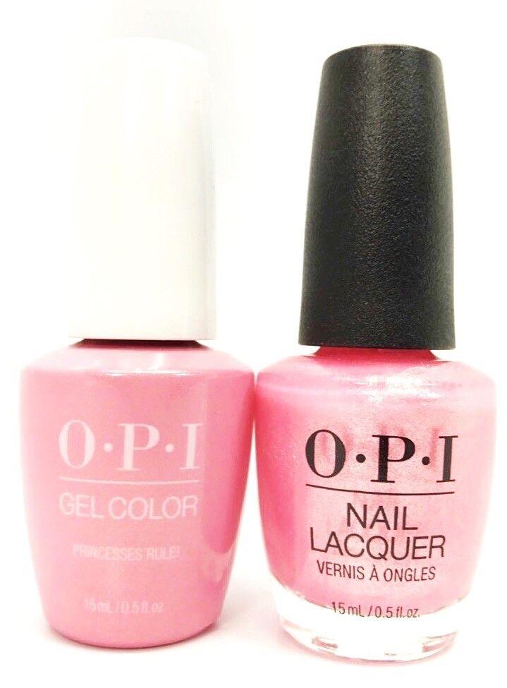 Opi Soak Off Gelcolor Gel Polish Nail Polish Quot Princesses Rule Quot 5 Oz Ebay
