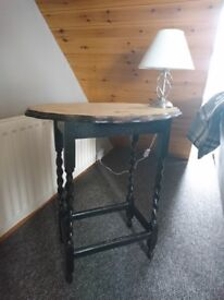 Tall Wood Side Table