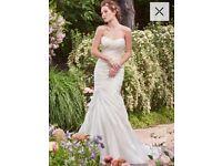 White Rebecca Ingram, Size 8, stunning wedding dress. Never worn and no alterations.