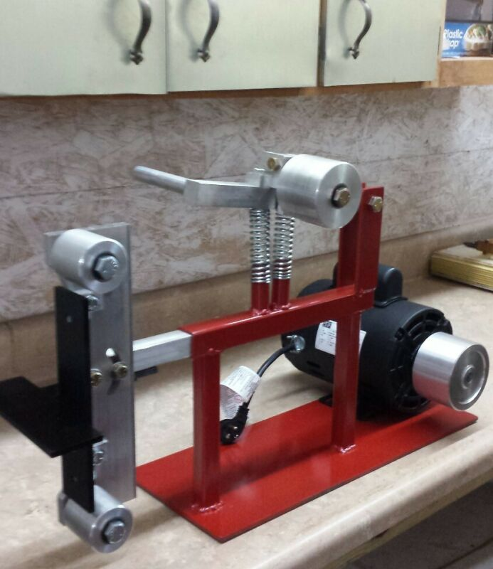 2x72 BELT SANDER GRINDER KNIFE STEEL WOOD, INDUSTRIAL MODEL WITH 2 hp. MOTOR
