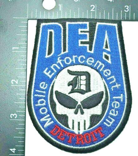 DEA DETROIT MOBILE ENFORCEMENT TEAM PATCH (PD 1) DRUG ENFORCEMENT AGENCY