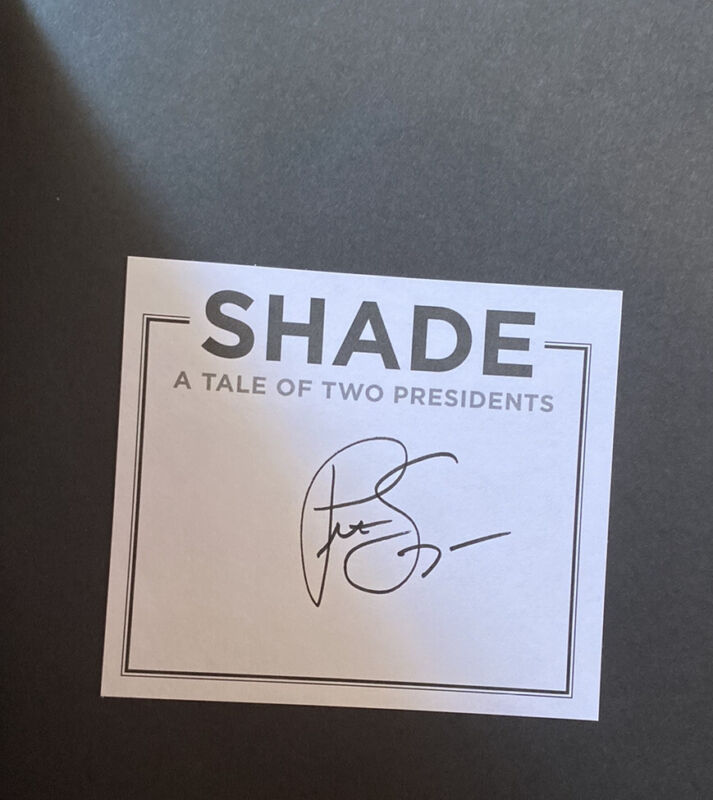 Pete Souza Signed Book Hardcover Shade A Tale Of Two Presidents Barack Obama
