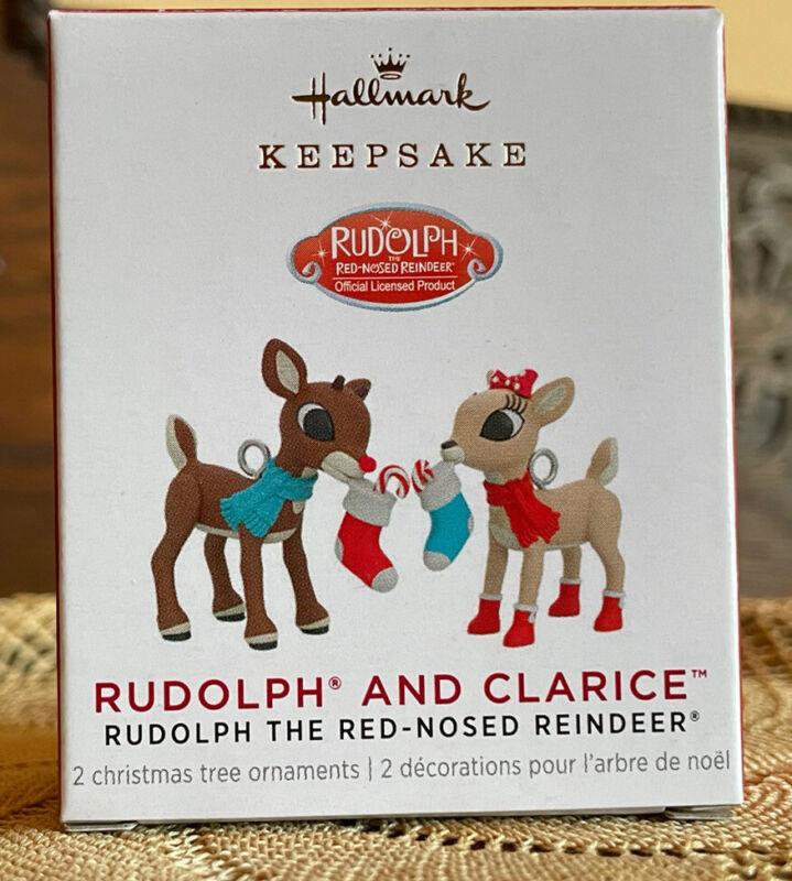 Hallmark Keepsake 2021 Rudolph And Clarice Miniature Ornaments NIB