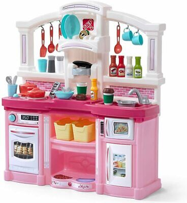 Step2 488399 Fun with Friends Kids Play Toy Kitchen Set, Large, Pink