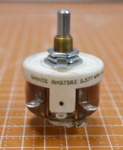 Ohmite Rheostat 25 Watt Model H, RHS75RTE
