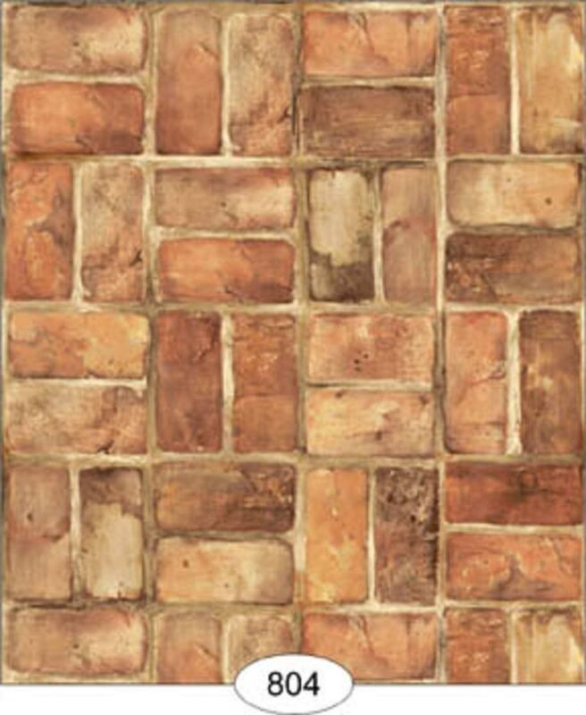 Dollhouse Wallpaper Set Brick in Blush
