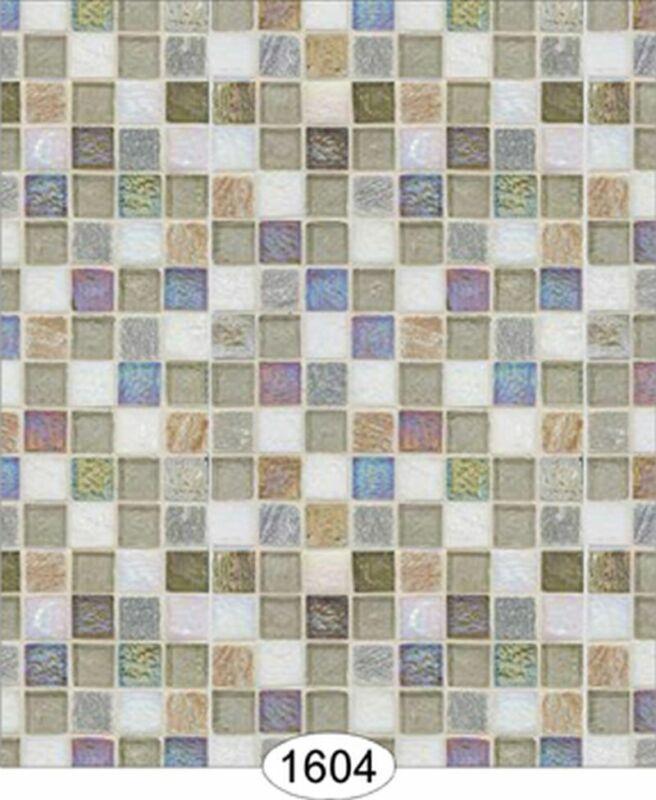 Dollhouse Wallpaper Mosaic Tile Opal