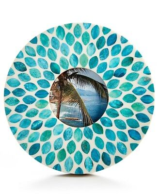 Global Goods Partners Round Photo Frame  Turquoise