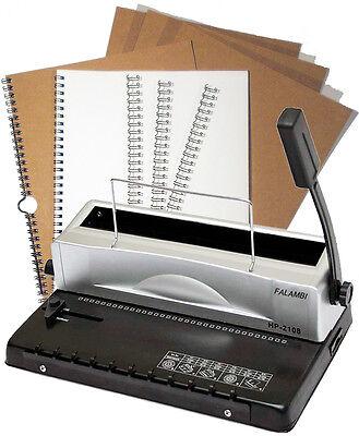 Draht Bindegerät HP2108, inkl. 75-tlg. Starterset, Spiralbindegerät für Draht