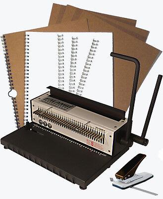 Kalenderbindegerät inkl. Zubehör (99 Teile) - Bindemaschine / Bindegerät TD-1500