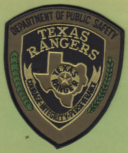 TEXAS RANGERS DEPT PUBLIC SAFETY DPS POLICE SWAT SHOULDER PATCH Subdued-Green