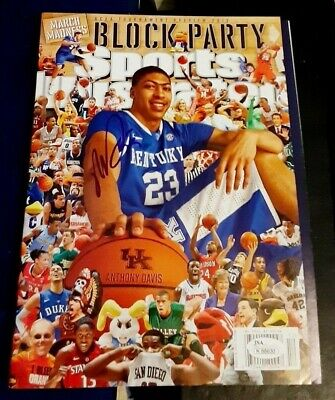 ANTHONY DAVIS Kentucky Wildcats SIGNED AUTOGRAPHED Sports Illustrated SI JSA NL