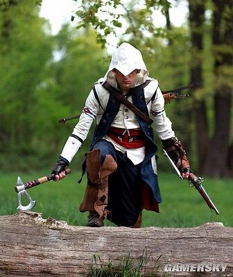 For Assassins Jacket 2017 Cool Stylish Creed Hoodie Men's CosplayCoat Costume