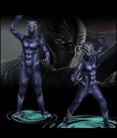 Black panther costume 7-8years