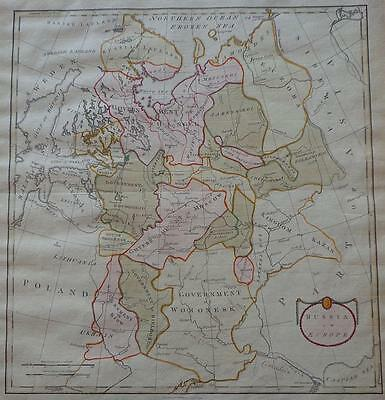 1790 Russia in Europe THOMAS STACKHOUSE Antique Map UNCOMMON Hand Colored