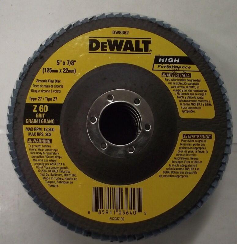 DEWALT DW8216H 5-Inch by 5//8-Inch-11 Z80 T27 WB Flap Disc