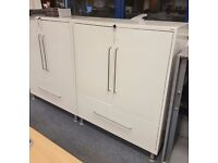 SUPERB HEAVY DUTY TOOL CABINETS - WHITE VERY GOOD CONDITION - COST OVER £1000 WHEN NEW -