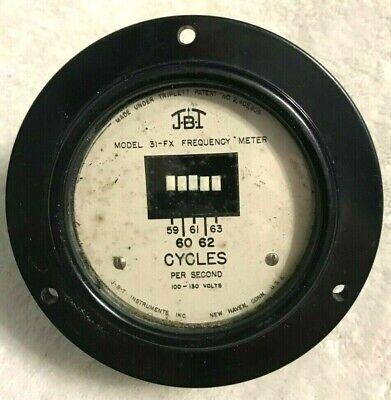 Vintage 1957 Jbt Instruments Frequency Meter Model 31-fx Gauge Usa Steampunk