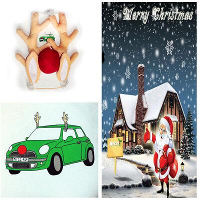 1 Set Car Decoration Short Plush Reindeer Antler Christmas Decor for Car Vehicle
