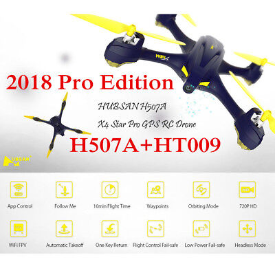 Hubsan H507A X4 Pro Wifi FPV RC Quadcopter Drone w/720P Camera WayPoint GPS RTF