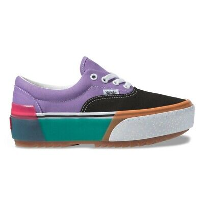 New Vans Era Stacked Confetti Fairy Wren Sea Green Platform Sneakers Shoes 2019 - Faerie Shoes