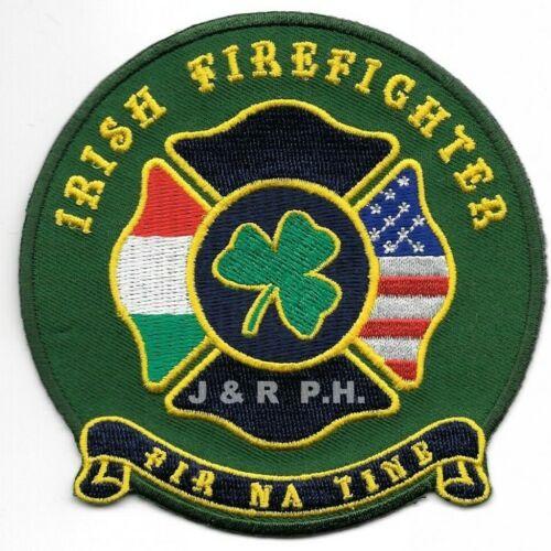"Irish Firefighter  ""FIR NA TINE""  (4"" round size)   fire patch"