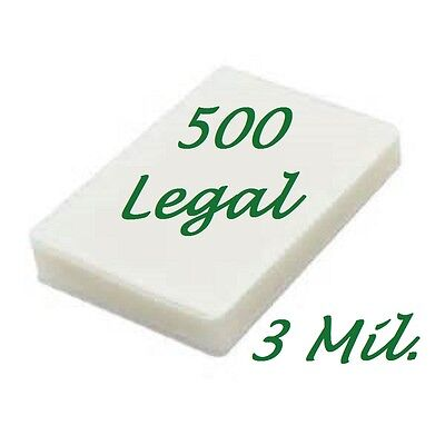 Legal Laminating Laminator Pouches Sheets 9 X 14 5 500 3 Mil Scotch Quality