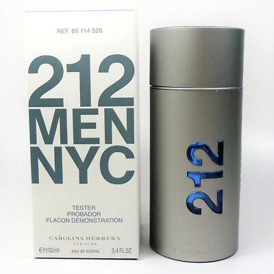 212 by Carolina Herrera Eau de Toilette for Men NYC 3.4oz / 100 ml *NEW TST BOX*