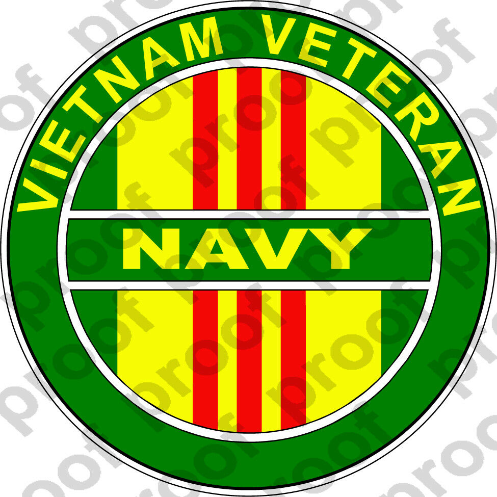 Home Decoration - STICER NAVY VIETNAM VETERAN