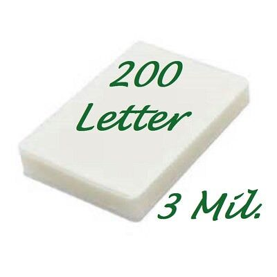 - 200 Letter Laminating Laminator Pouches Sheets 9 x 11-1/2 3 Mil Scotch Quality