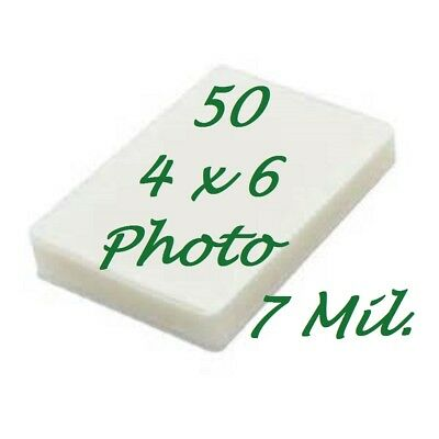 4 X 6 Laminating Laminator Pouches Sheets 4.25 X 6.25 7 Mil 50 Pk Scotch Quality
