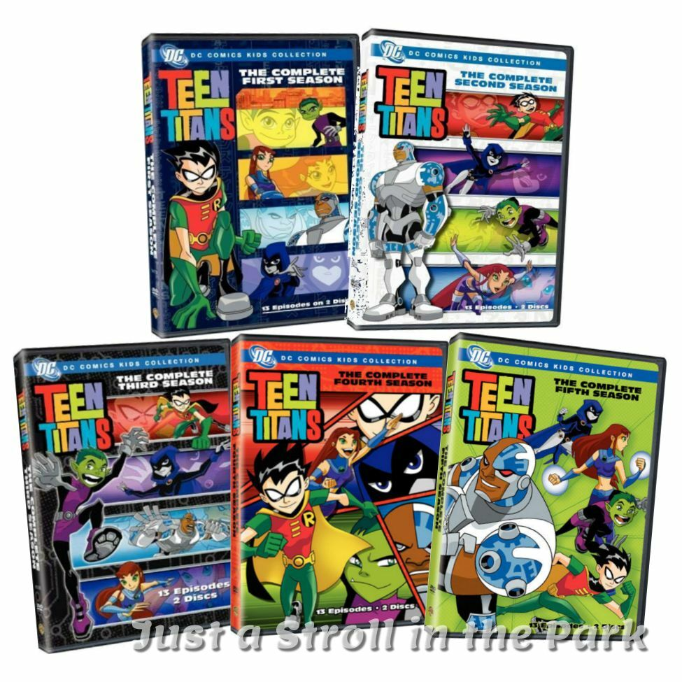 Teen Titans Complete Animated Tv Series Seasons 1 2 3 4 5 Box  Dvd Sets New  Ebay-6830